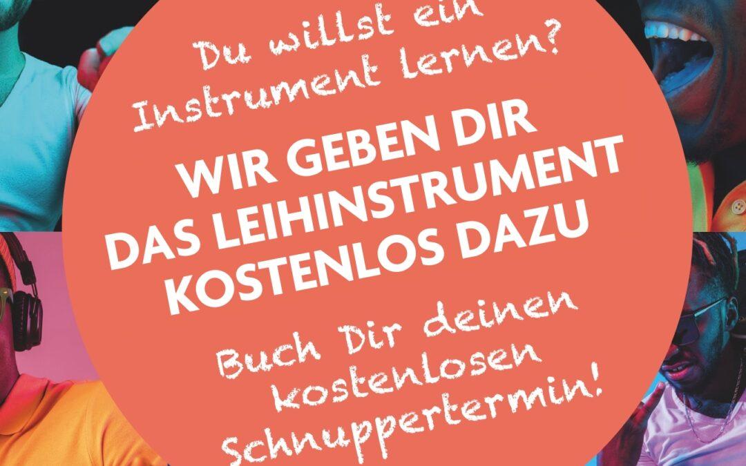 Jetzt online Musikunterricht starten und wir geben dir ein kostenloses Leihinstrument mit dazu!